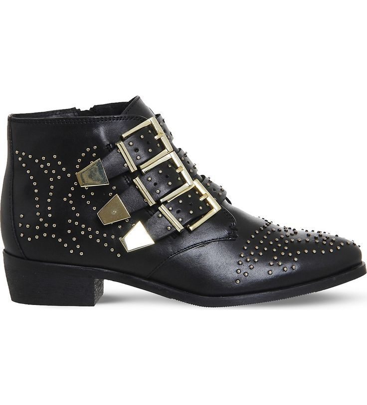 OFFICE - Lucky Charm studded leather boots | Selfridges.com