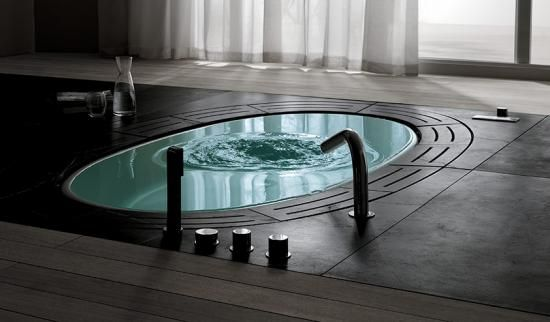 OMG this sunken tub is unbelievable!  WOW - this is a stunner.
