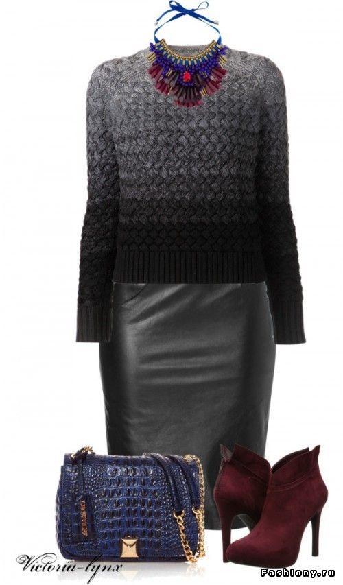 10 способов...надеть кожаную юбку