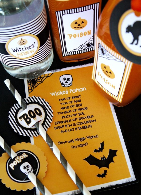 halloween spooky party printables supplies decorations kit with invitations - Kids Halloween Party Decorations