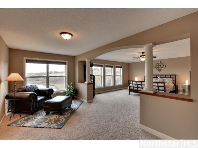 Huge master bedroom with separate sitting area for reading and relaxing   This home is for sale in Maple Grove  MN    Home   Pinterest   Huge master  bedroom. Huge master bedroom with separate sitting area for reading and