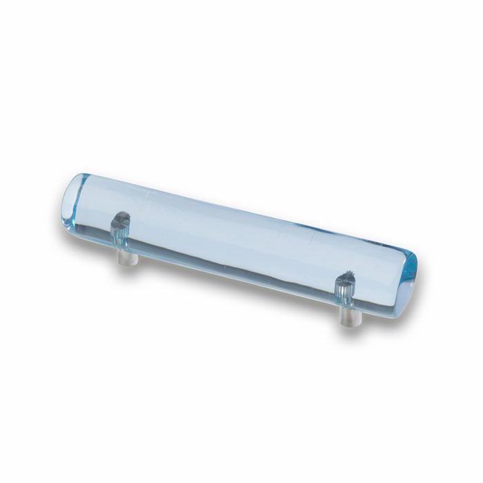 Art Deco style D handle in delicate aquamarine colour