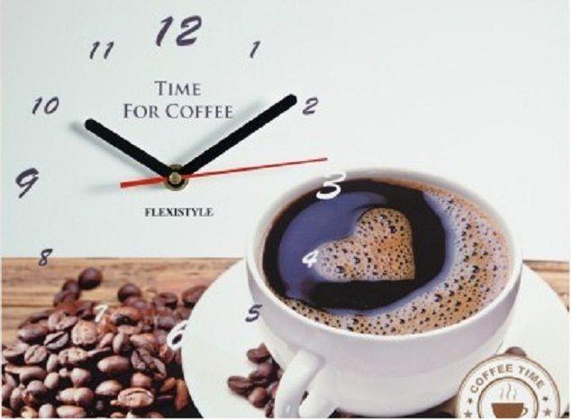 Beżowy stylowy zegar do kuchni