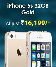 #AmazingDeal only on #TogoFogo!#Apple #Iphone5S 32GB Gold at just Rs16,199.Shop Now : http://bit.ly/2qAE0x4