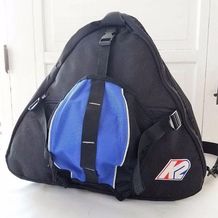 K2 Boot Helmet Bag Pack Ski Black Blue Red White Logo Patch Nylon Vintage #K2 #skis #ski #skiboots #skibag #skiing #wintersports