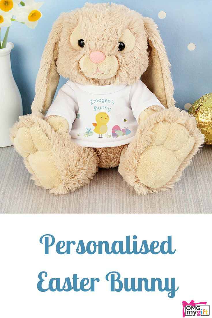 29 best easter gift ideas not just chocolate images on pinterest personalised easter bunny a cute easter gift alternative to the chocolate easter egg this negle Images