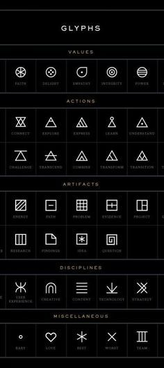 Look at these symbols when you need inspiration for geometric #tattoos I love the one for understand.