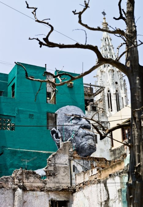 The Wrinkles of the City La Havana JR Artist