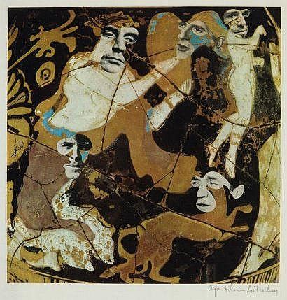 Olga KLEIN ASTRACHAN (1907) Composition I Collage