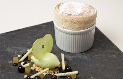Gingerbread Soufflé Recipe With Apple Sorbet - Great British Chefs