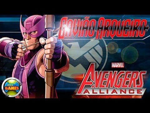 Gavião Arqueiro Todos os Ataques Marvel Avengers Alliance