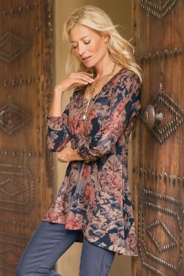 Millie Top from Soft Surroundings  Love the colors of this. And the coverage is great for women over 60.