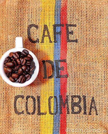 I want Colombian only coffee in my house and the flag of Colombia as well.