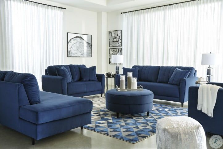 Enderlin Ink Living Room Set Blue Sofas Living Room Blue Couch Living Room Blue Living Room Decor