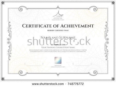 125 best Certificate template images on Pinterest - certificate of achievement template
