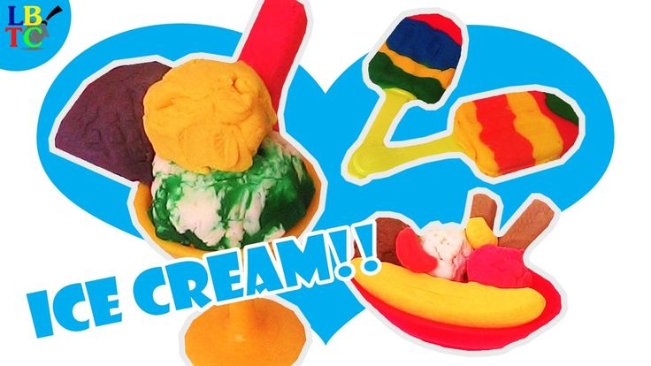 DIY How to Make PlayGo Dough Ice Cream Set Rainbow Popsicle and Learn Co...