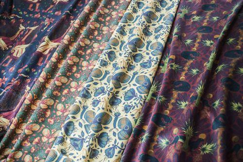 pernowka and tomski&polanski goods. Illustrated fabrics.