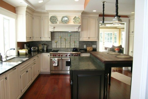 update forest green countertops with white black and a green toned backsplash