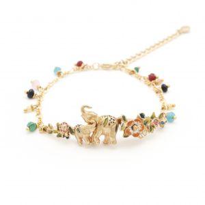 Elephant Statement Bracelet - Gold