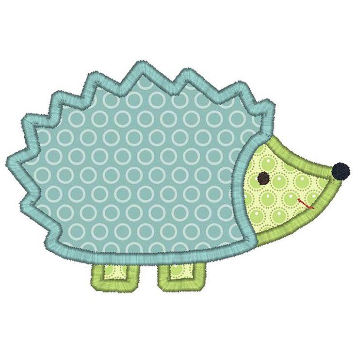 A so-cute hedgehog applique pattern!