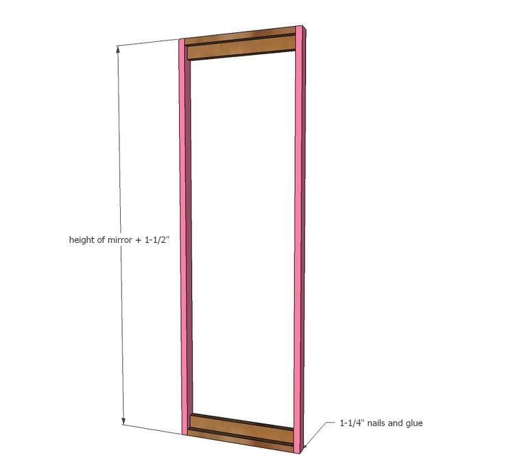 Ana White | Build a Full Length Mirror Sliding Beauty Storage Cabinet | Free and Easy DIY Project and Furniture Plans