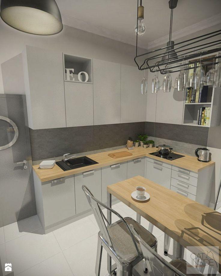 Kuchnia, kamienica - zdjęcie od Cat Inside Projektowanie Wnętrz