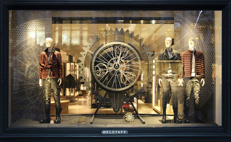 Beautifully captured; this film presents the inspiration behind the creation of Belstaff's seasonal window & the crafting of the installation in our workshop. Inspired by the brand's motorcycling heritage, the mechanical display brings together the rugged luxury palette of Belstaff with automotive parts to create an abstracted snowflake. The display was created in collaboration with Belstaff & was implemented into the brand's stores in London,Milan,Munich & NY  https://vimeo.com/114866785