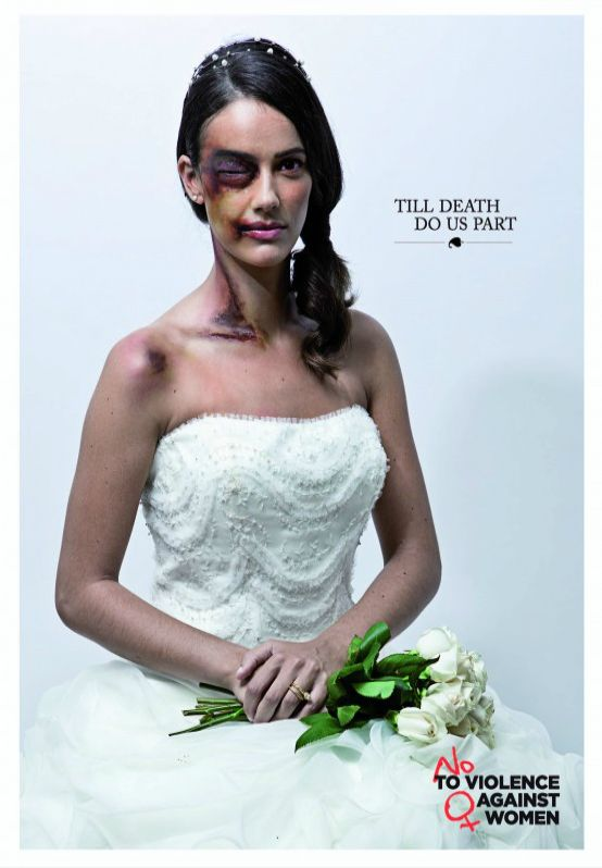 """#WomensDay #Domestic #Violence #Ad #Bride """"Till death do us part"""". The United Nations Regional Information Centre"""