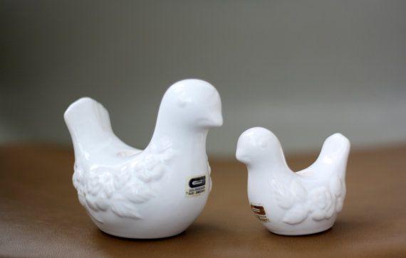 Vintage GULDKROKEN HJO 2 Ceramic Birds // by HiThereVintage, €35.00