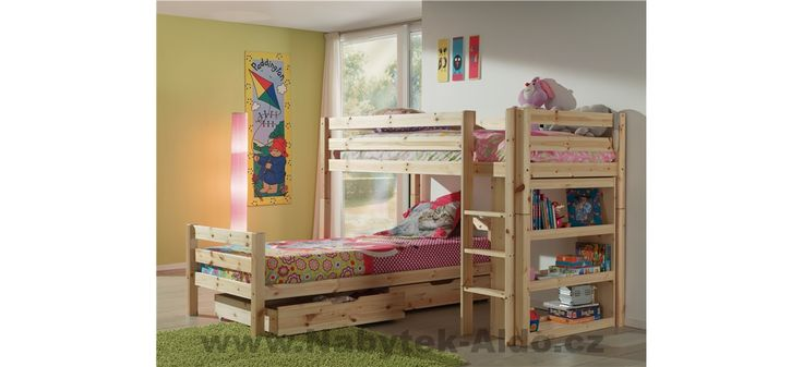 Patrová postel z masivu Pino PISBHK10