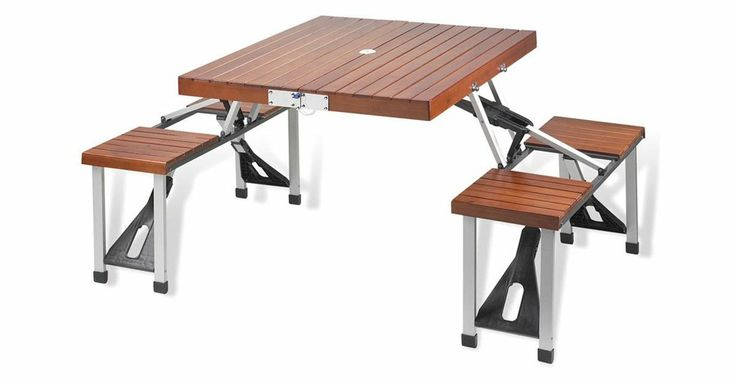 Portable Picnic Table Set - what a GREAT idea!  You never know when the perfect picnic opportunity may arise!