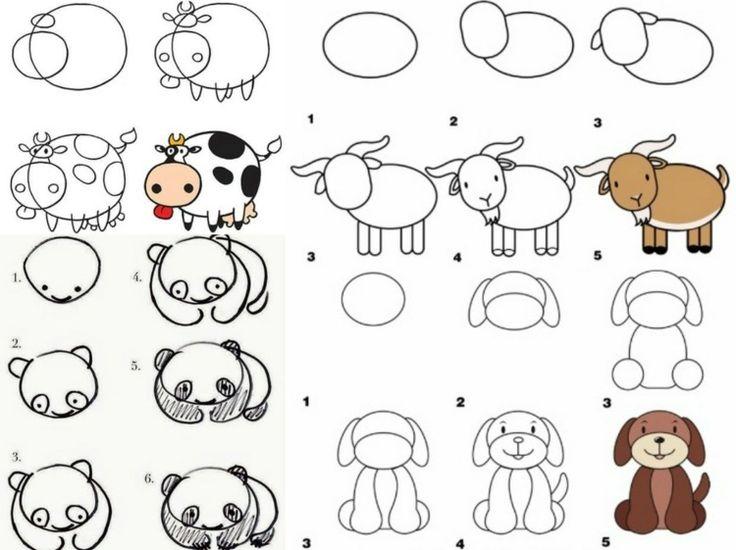 Lernen Sie und Ihr Kind Tiere zeichnen für einen Zoo oder Bauernhof – Judith