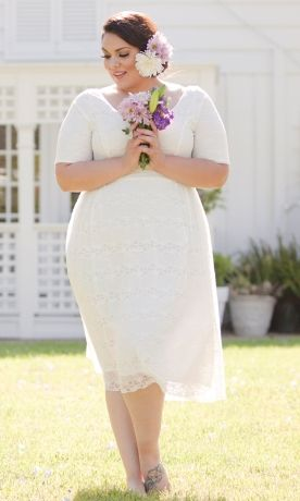Fantasy carries plus sized bridal lingerie for brides to be! http://www.xojane.com/clothes/best-plus-size-wedding-dresses