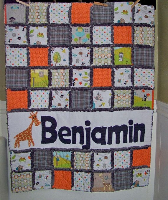 Rag Quilt Crib Or Toddler Size Personalized With By