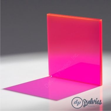 Fluorescent Cast Acrylic (Plexiglass) Sheet