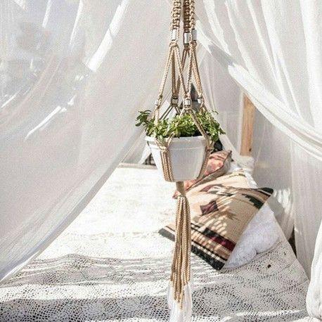 Feather Macrame Plant Hanger by Dreamcatcher Designs