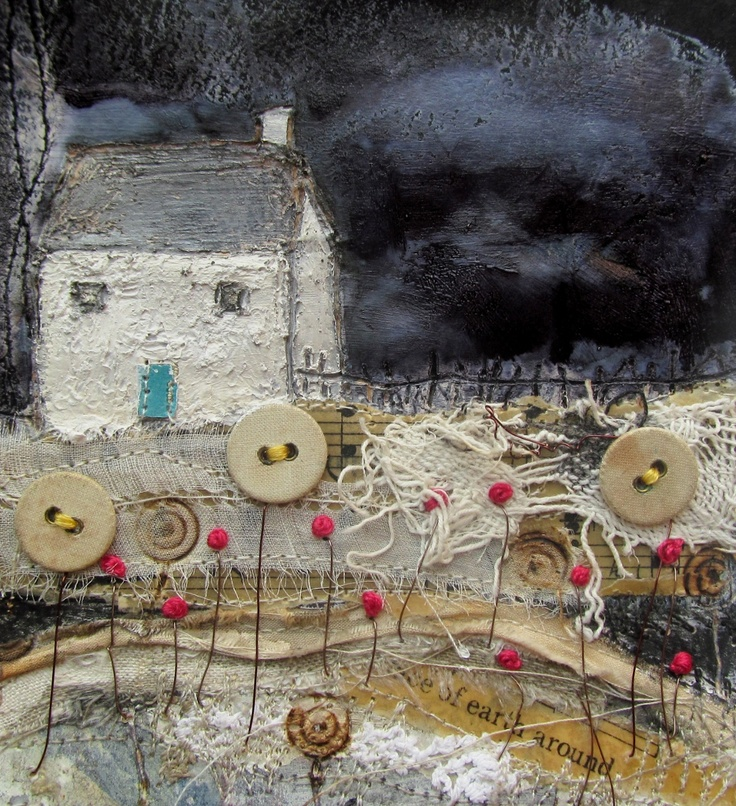 'A cottage in the Lakes'  by Louise O'Hara of DrawntoStitch www.drawntostitch.com