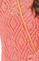 Eyelet Diamonds Knit Stitch - Knitting Kingdom