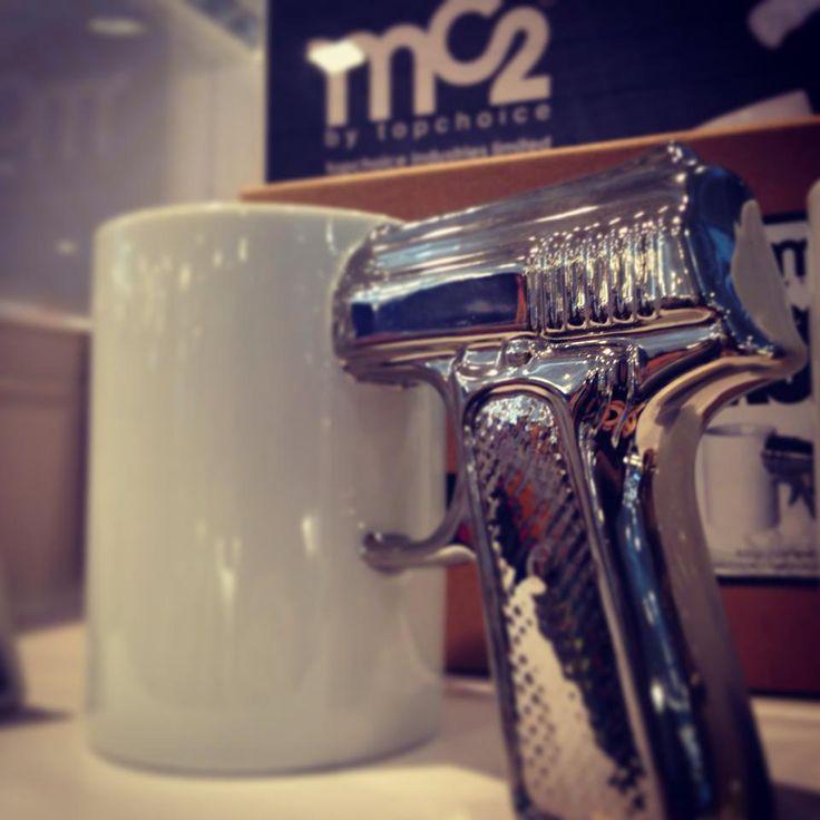 MC2 Platinum Top Gun Mug - unique in character and fun in shape