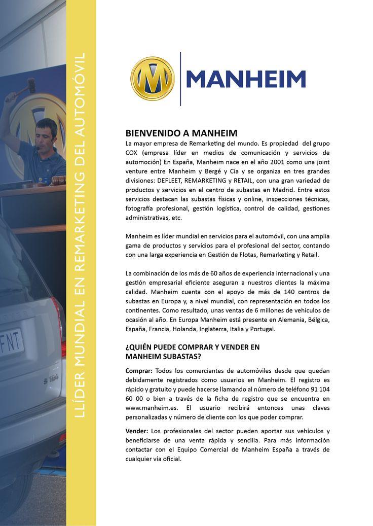 Presentación general de Manheim Subastas