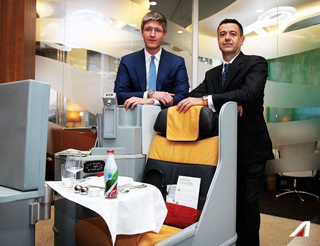 Marco Martinasso, Alitalia VP Marketing and Tiziano Cameroni, Coca-Cola Commercial Director Italy and Albania