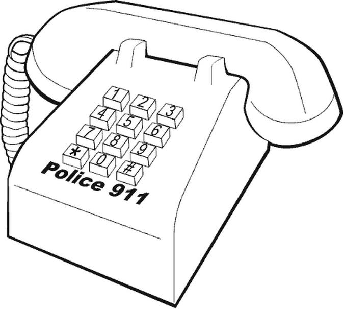 calling 911 coloring pages calling 911 coloring pages