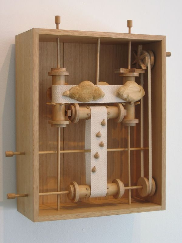 Louise Dickmann. Lighter Than Vanity 2005, wood and fabric, H410 x W290 x D70 mm.