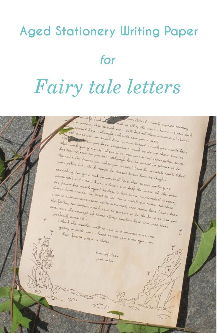 Fairy Tale stationery | Plants and rocks writing paper | Aged writing paper | Aged paper | Aged stationery | Parchment letter | Fairy tale letter | Postcrossing gift | Old paper | Dandelion illustration | Dandelion stationery