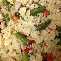 Asparagus, Chicken, and Pecan Pasta Allrecipes.com