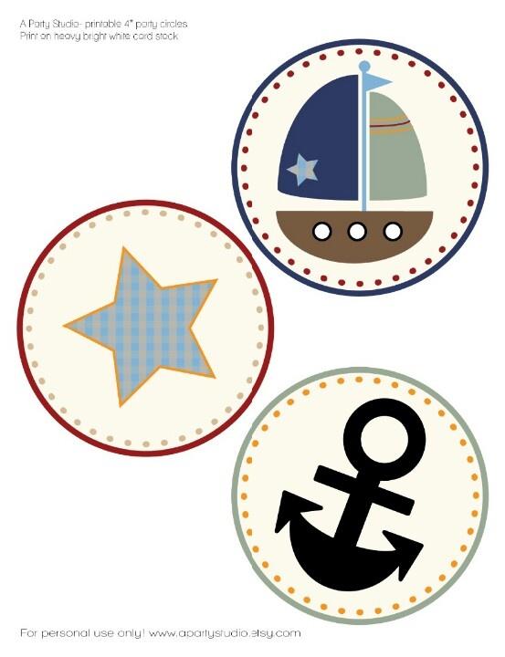 Cute baby shower nautical theme prints