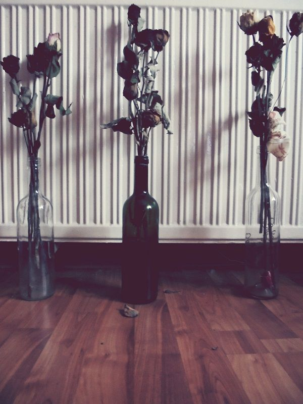 flowers,roses,wine,bottles,love
