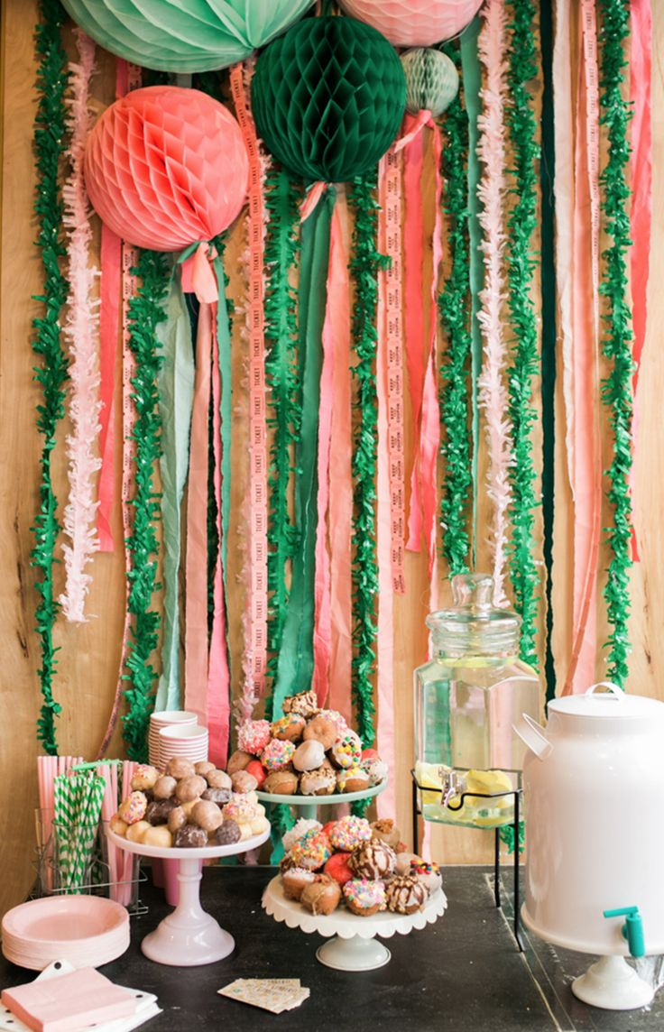 Give your DIY design side a little creative inspiration with this colorful spring table setting from Amanda, of Be Crafty. Amanda used streamers in bright colors to create a festive backdrop. She even set up a crafting table where guest could create keychains using wooden beads and BEHR Paint. Click here to see more.
