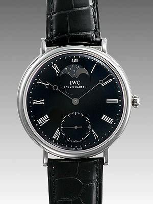 IWCスーパーコピーヴィンテージポートフィノIW544801メンズ 手巻き ステンレス ブラック      商品番号:IW544801