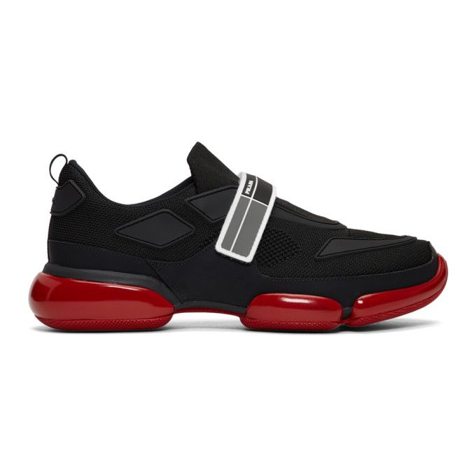 Prada Touch Strap Fastening Sneakers In